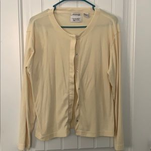 Yellow snap button cardigan